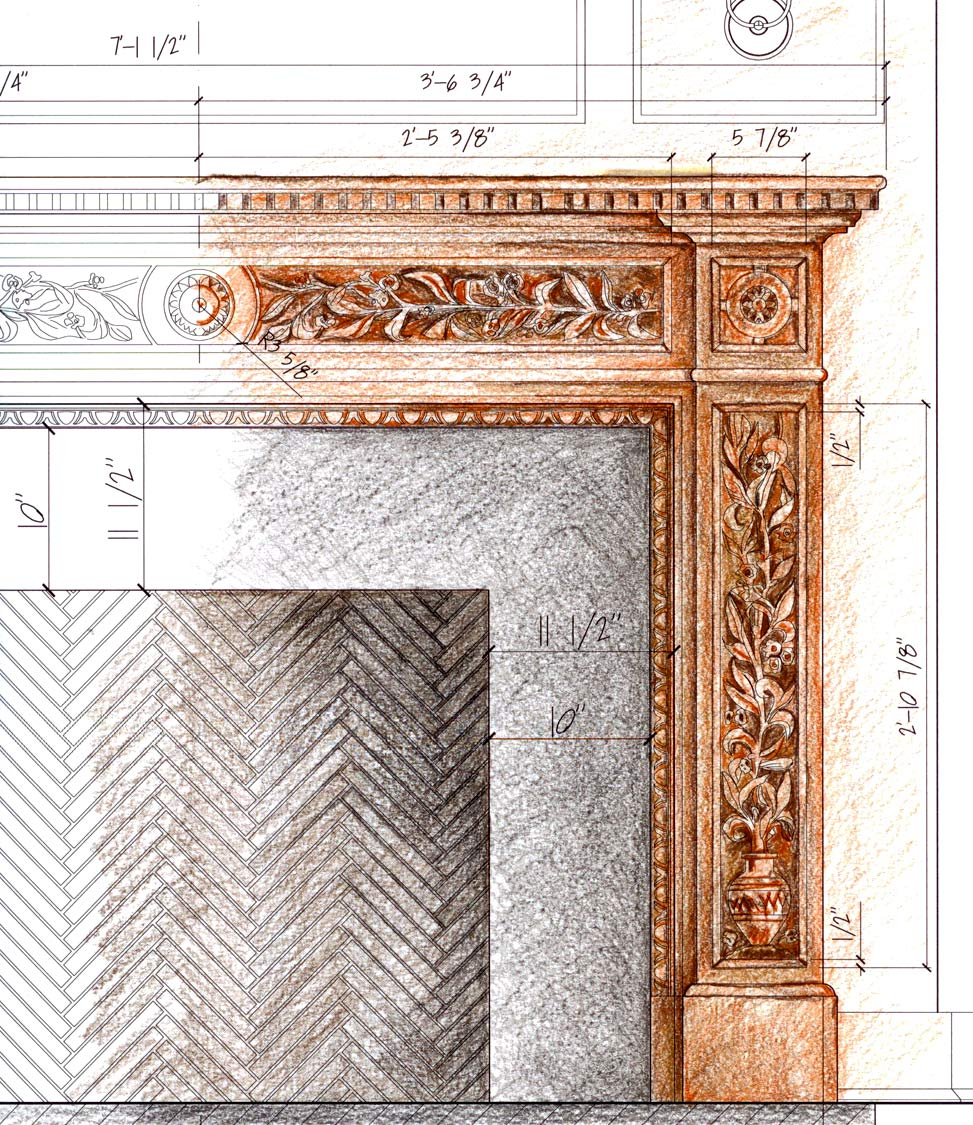 Fireplace Architectural Sketch image