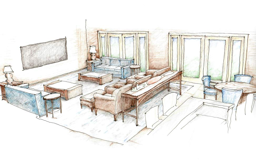 Home Theater Design Sketch image